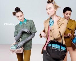 Prada 2015秋冬女裝廣告企劃    虛擬與真實交替