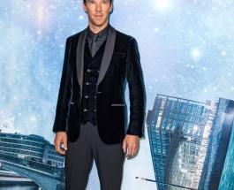 Benedict Cumberbatch 穿上Giorgio Armani Made to Measure 藍色絲絨禮服