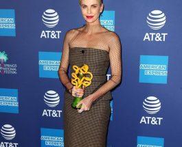 Charlize Theron穿著 Dior Pre-Fall 2020 新裝