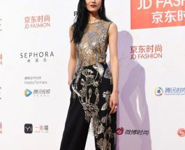 Liu Wen 刘雯穿著 Alexander McQueen Pre AW17 服裝