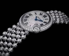Cartier白氣球珠寶腕錶     纖巧迷人
