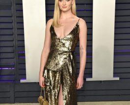 Sophie Turner穿著 Louis Vuitton 晚禮服