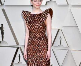 Emma Stone 穿著Louis Vuitton 定製晚禮服