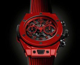 世界首枚紅色陶瓷錶   @HUBLOT